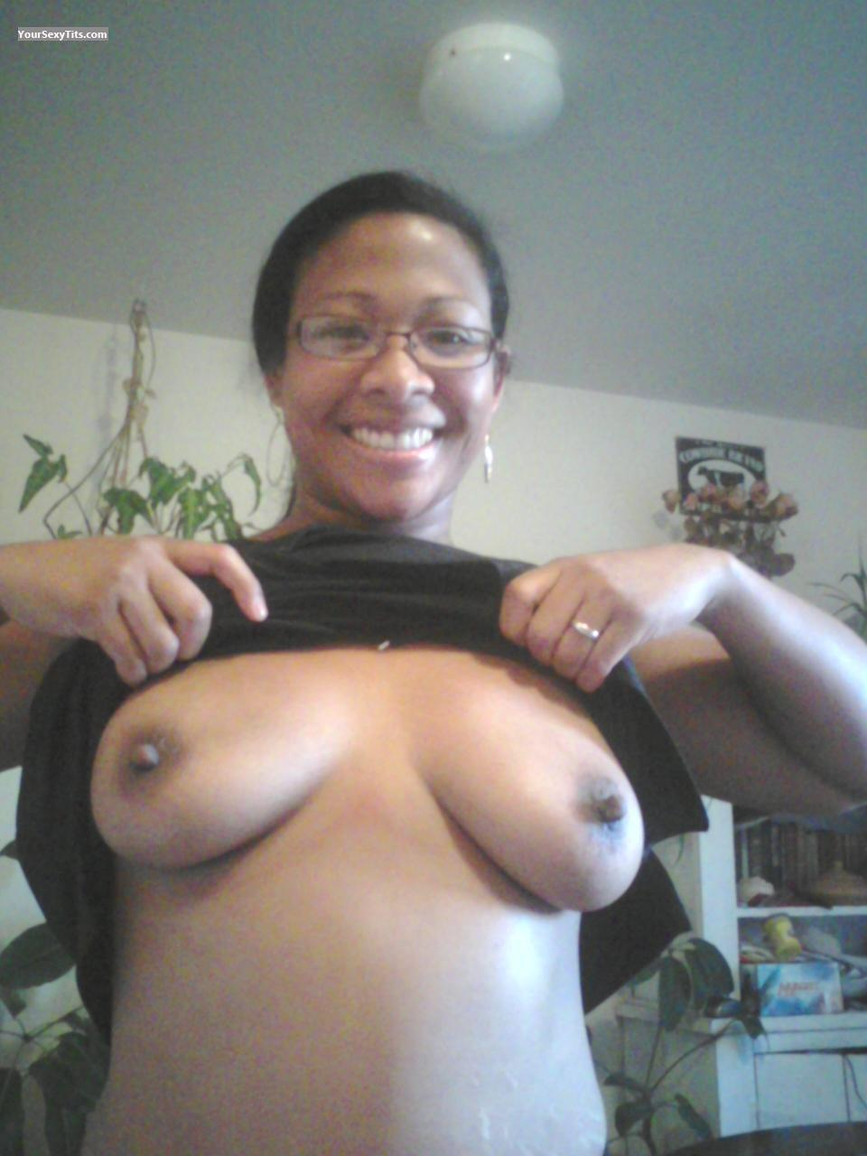 Tit Flash: Medium Tits - Topless Bunbun from United States