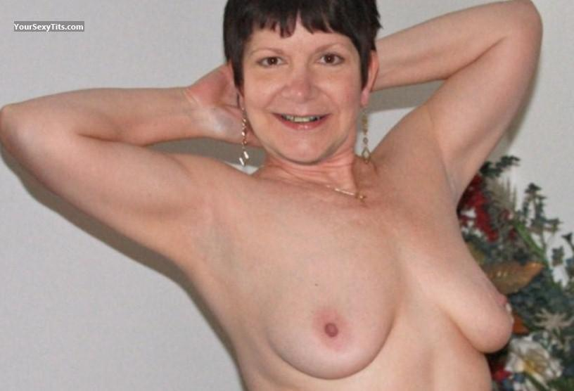 Tit Flash: Medium Tits - Topless Mrs. Rich from United States