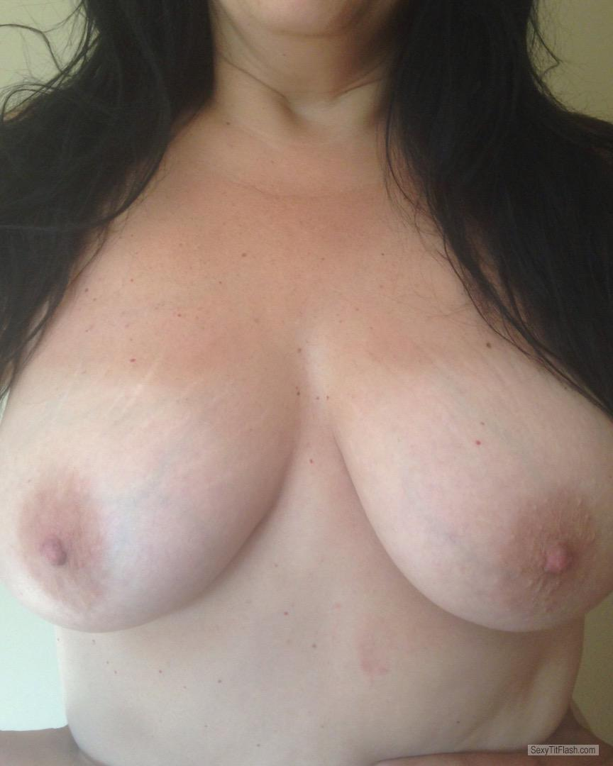 Tit Flash: My Friend's Tanlined Medium Tits - Anal Queen from United States