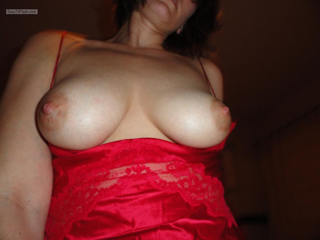 Tit Flash: Wife's Medium Tits - Stephanie from United States