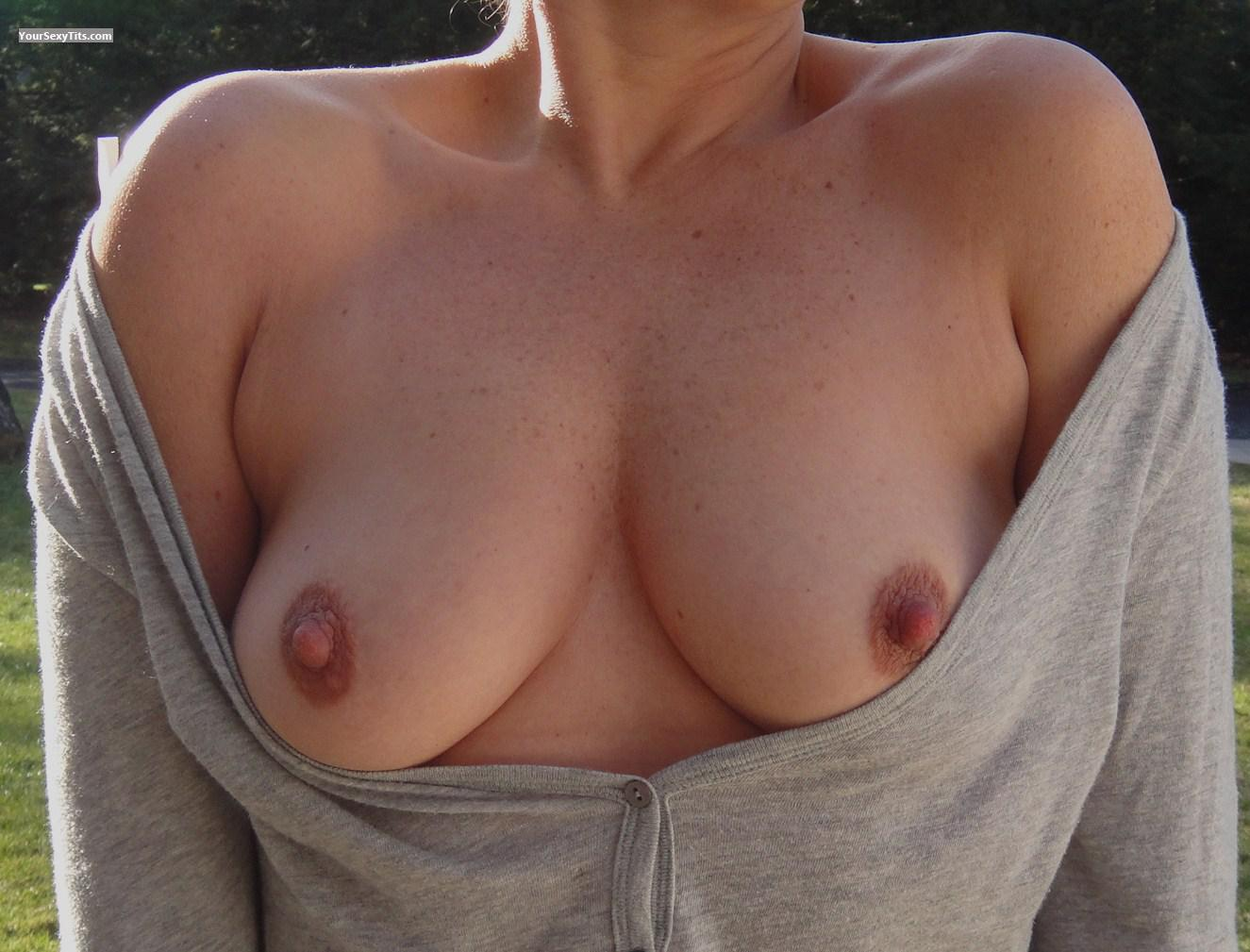 Tit Flash: My Friend's Medium Tits - Cindy from Bermuda