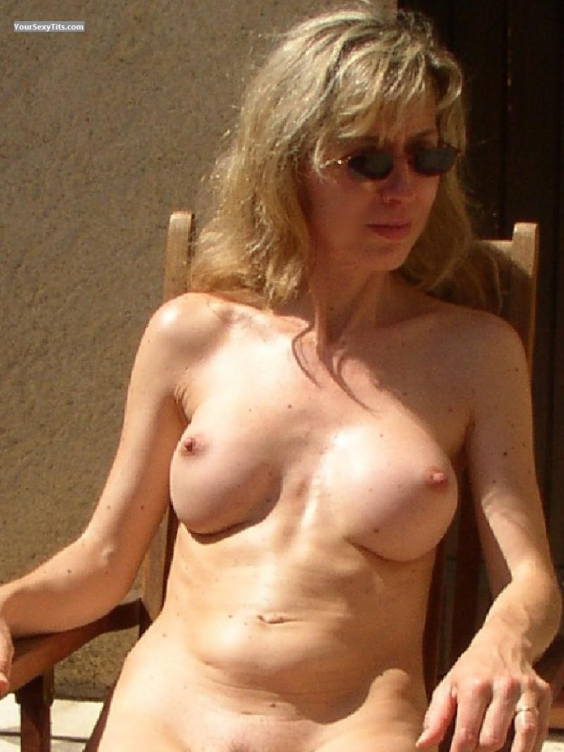 Tit Flash: Medium Tits - Sandra from Belgium