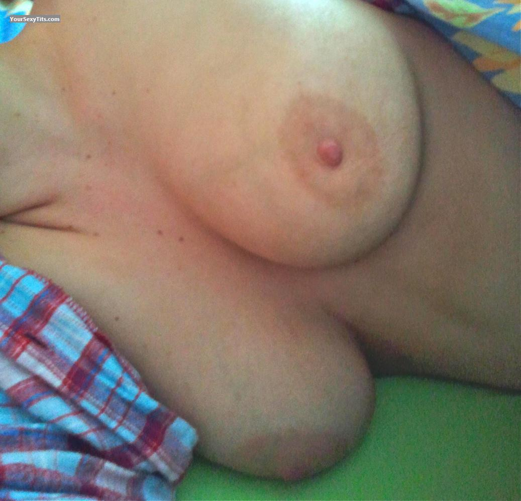 Tit Flash: Wife's Medium Tits - Marie from Germany