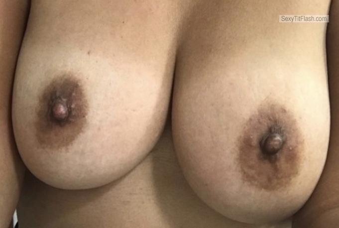 Tit Flash: My Medium Tits (Selfie) - Hot Latina from United States