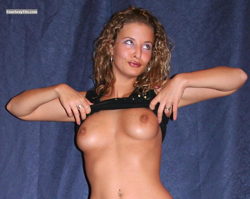 Tit Flash: Medium Tits - Topless Marie from France