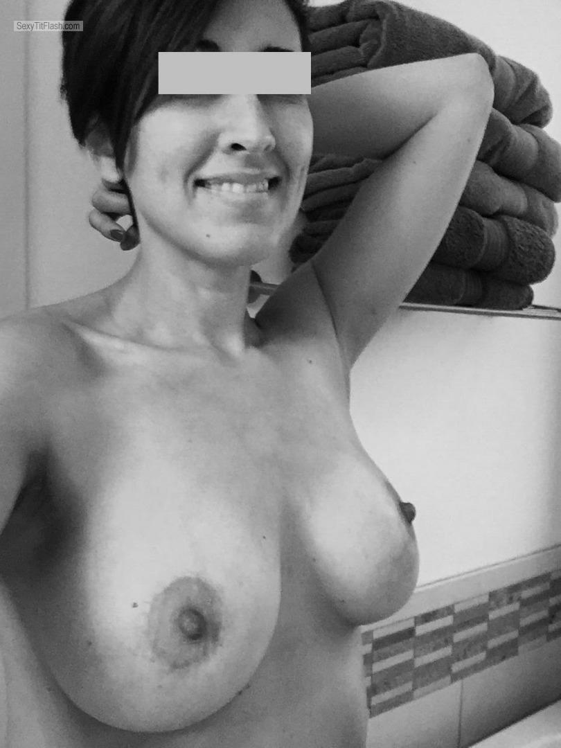 Tit Flash: My Medium Tits (Selfie) - Topless The Fixer from Australia