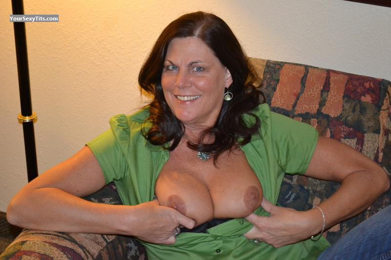 Tit Flash: My Medium Tits - Topless Hollie from United States