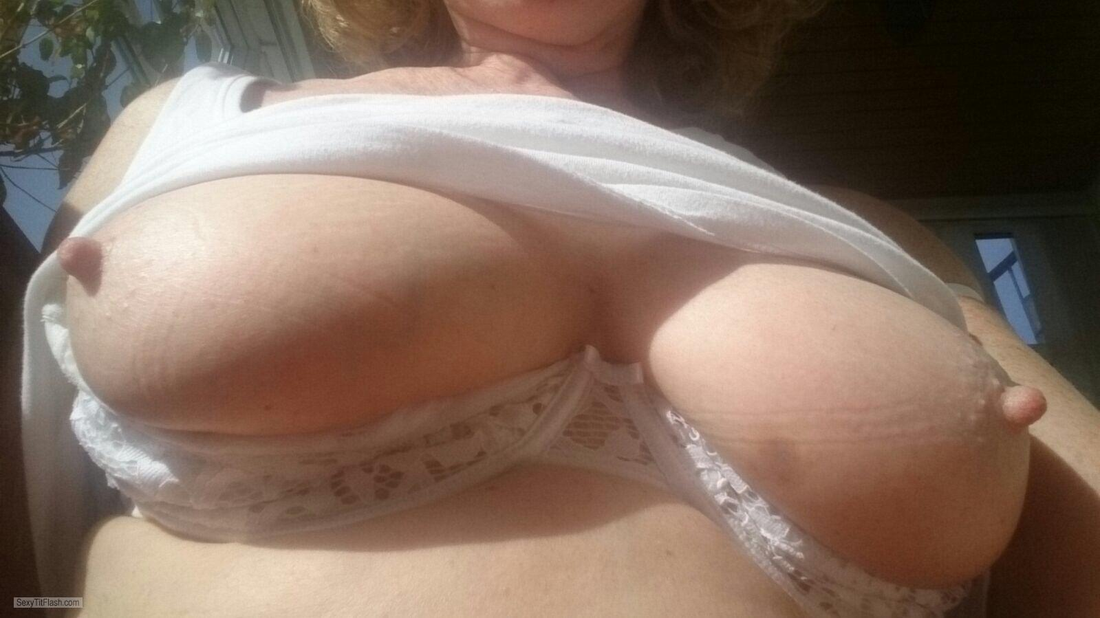 Medium Tits Of A Friend Selfie by Cum Loving Mature