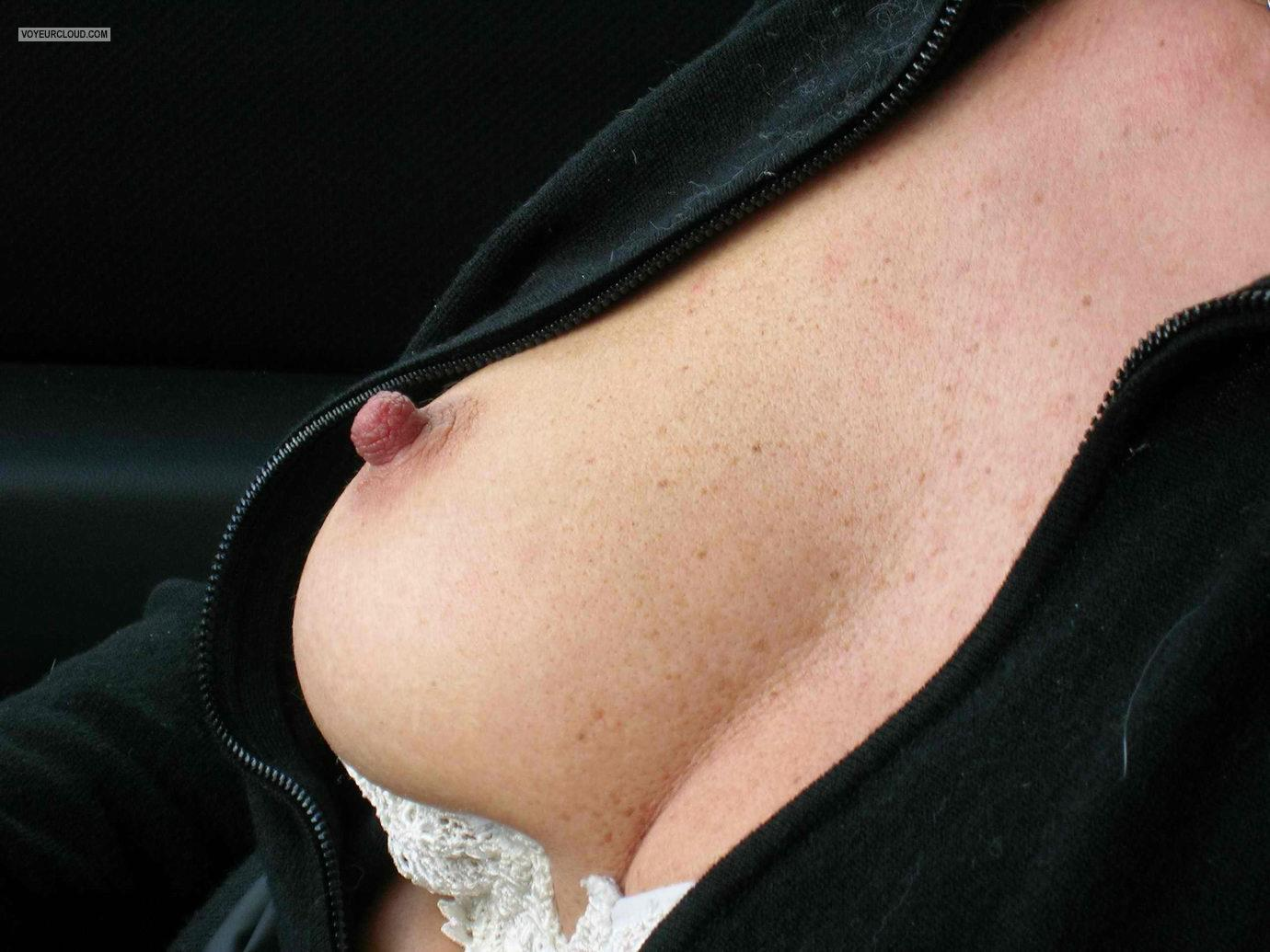 Tit Flash: Wife's Medium Tits - Alexia from Argentina