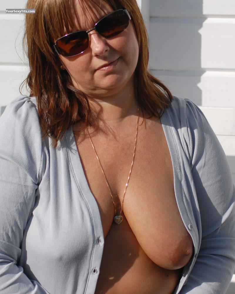 Tit Flash: Medium Tits - Topless Sajpen from Sweden