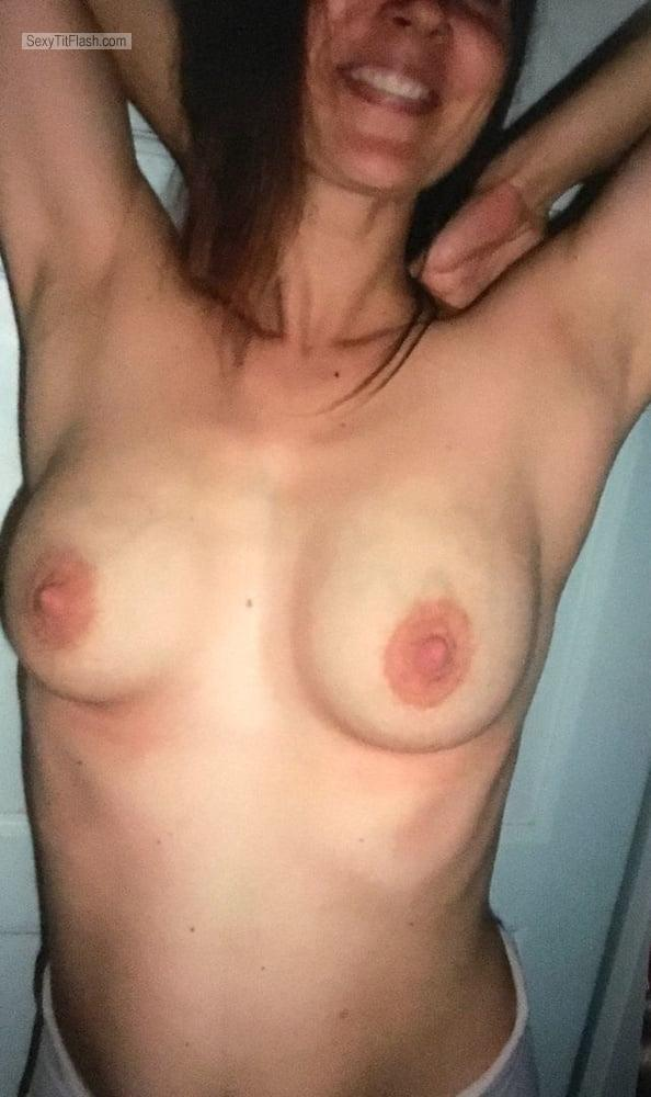 Tit Flash: My Medium Tits - Sarah from Germany