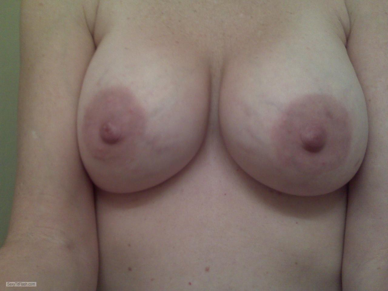 Tit Flash: My Medium Tits (Selfie) - Roxymilf from United States