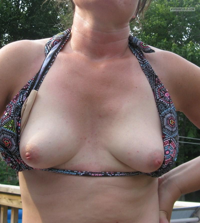 First time flashing boobs