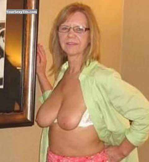 Tit Flash: Medium Tits - Topless Shawn from United States