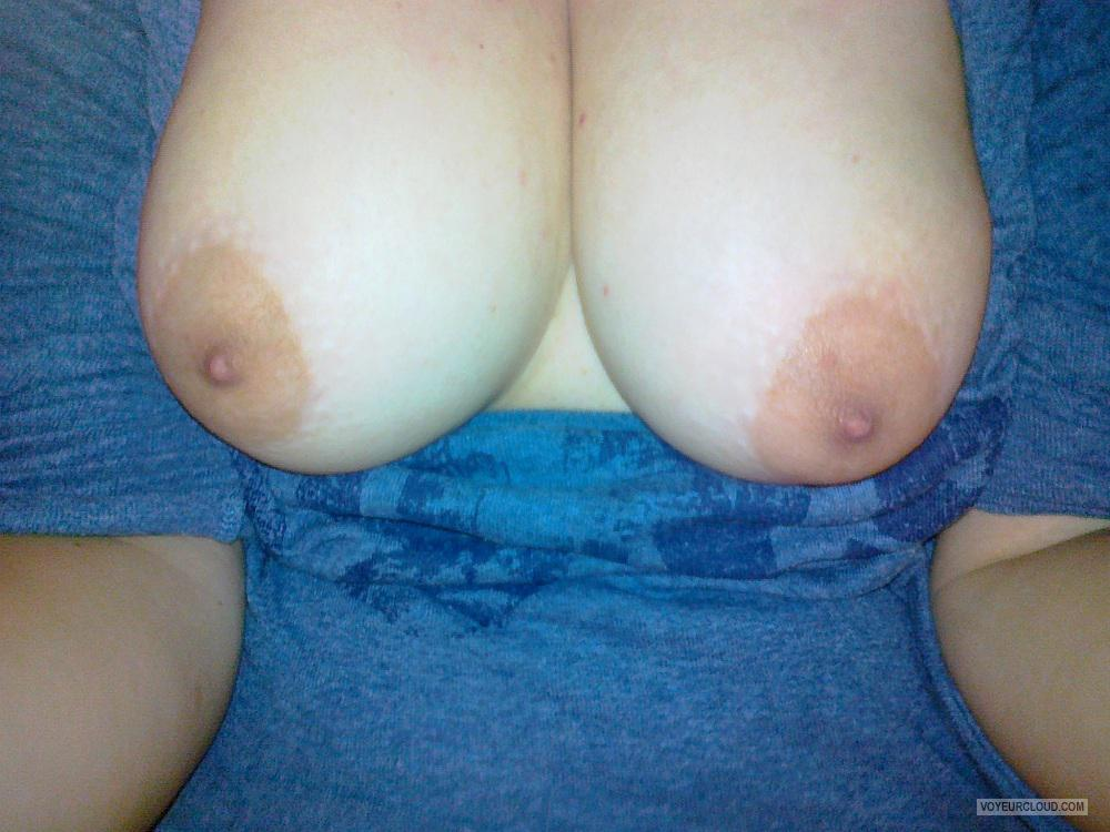 Tit Flash: My Medium Tits (Selfie) - Amanta from United States