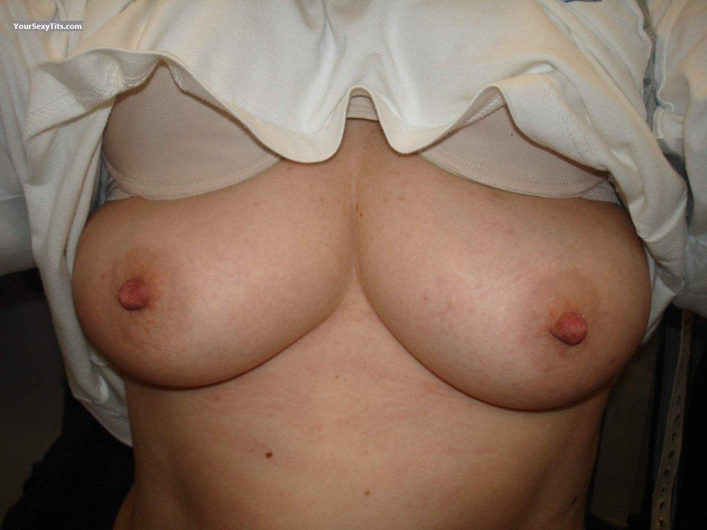 Tit Flash: Wife's Medium Tits - Amy Truman from Uganda