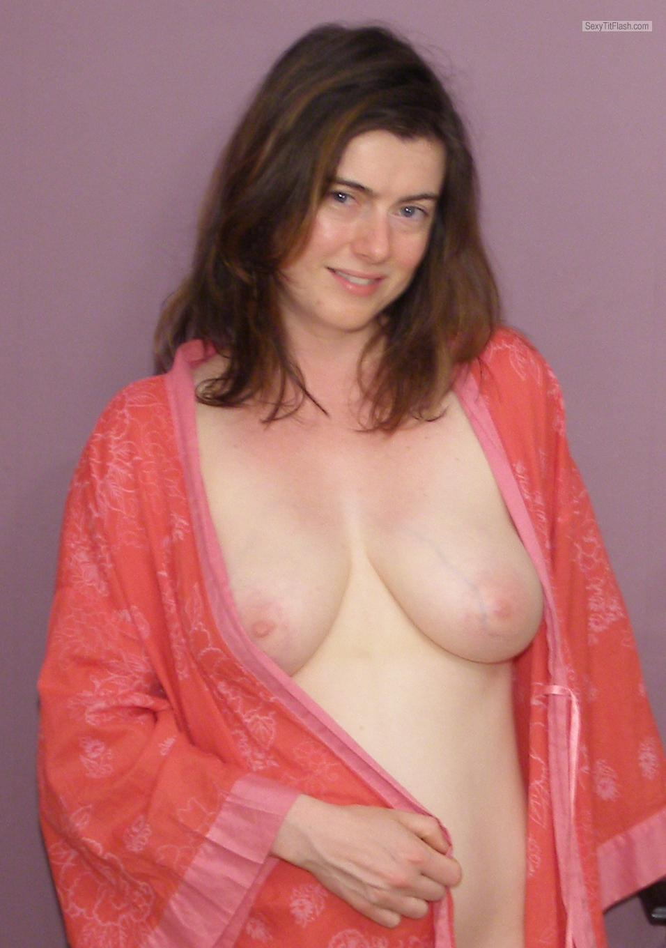 Tit Flash: My Medium Tits - Topless Beth from United Kingdom
