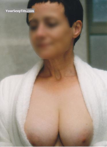 Tit Flash: Wife's Medium Tits - Kentish Girl from United Kingdom