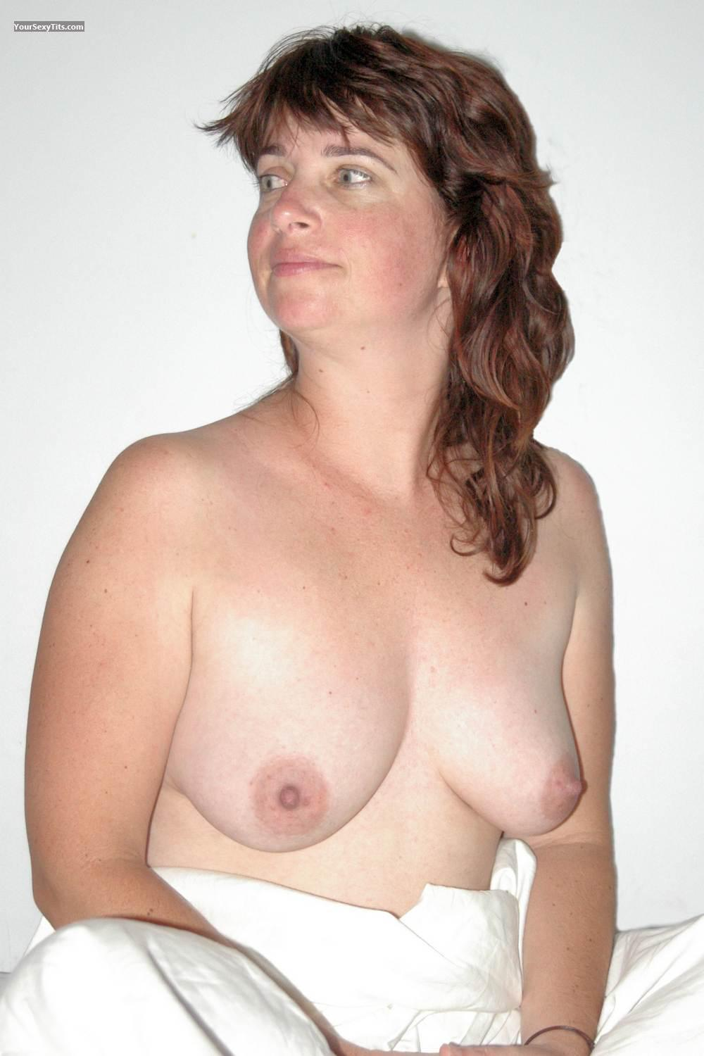 Tit Flash: Ex-Wife's Medium Tits - Topless Jo from Australia