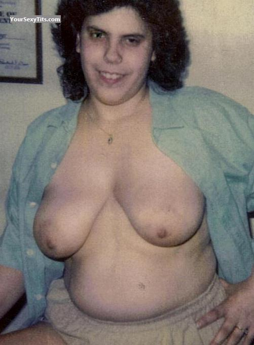 Tit Flash: Wife's Medium Tits - Topless Anne Marie from United States