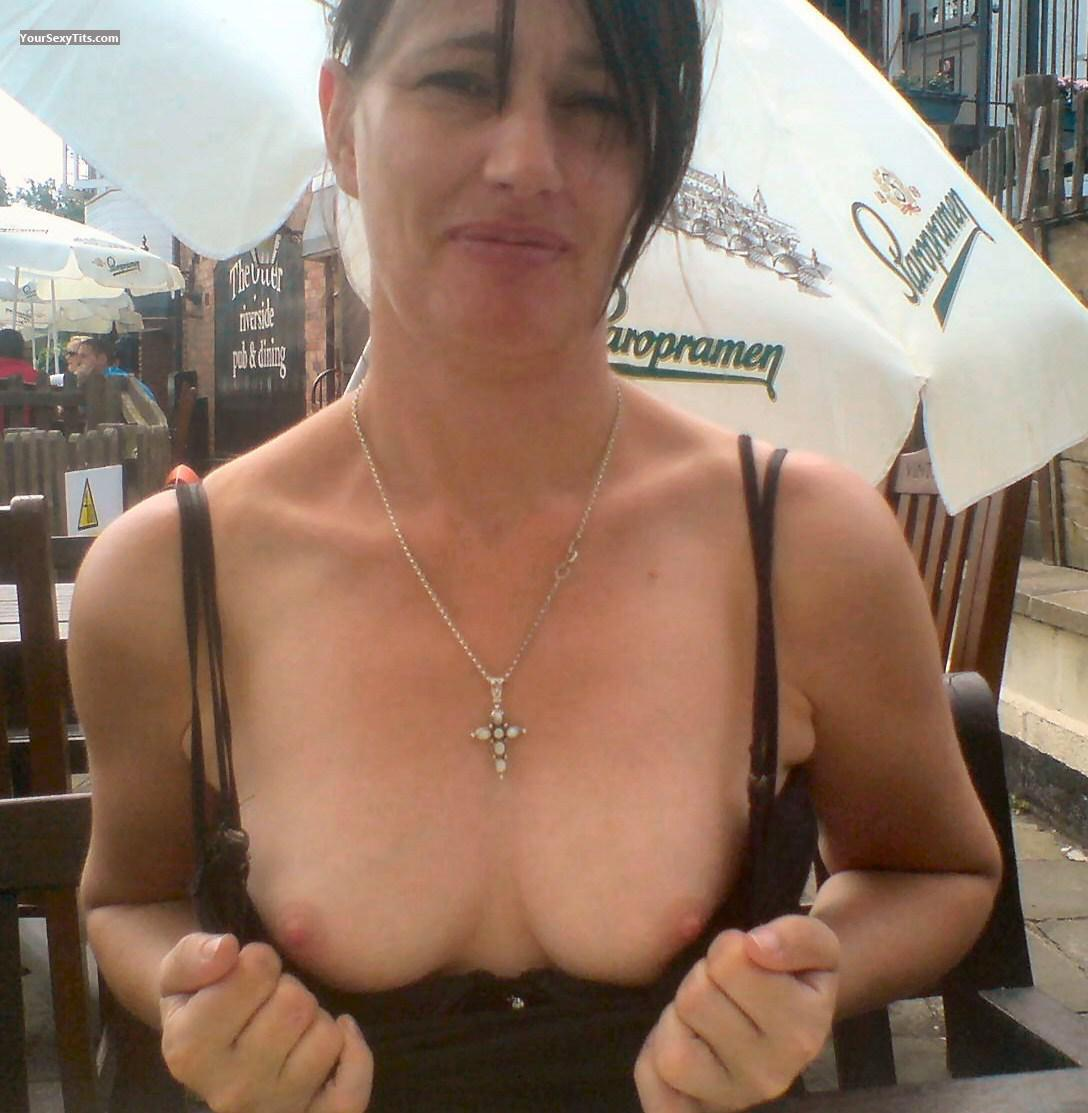 Tit Flash: Medium Tits - Topless Crakka from United Kingdom