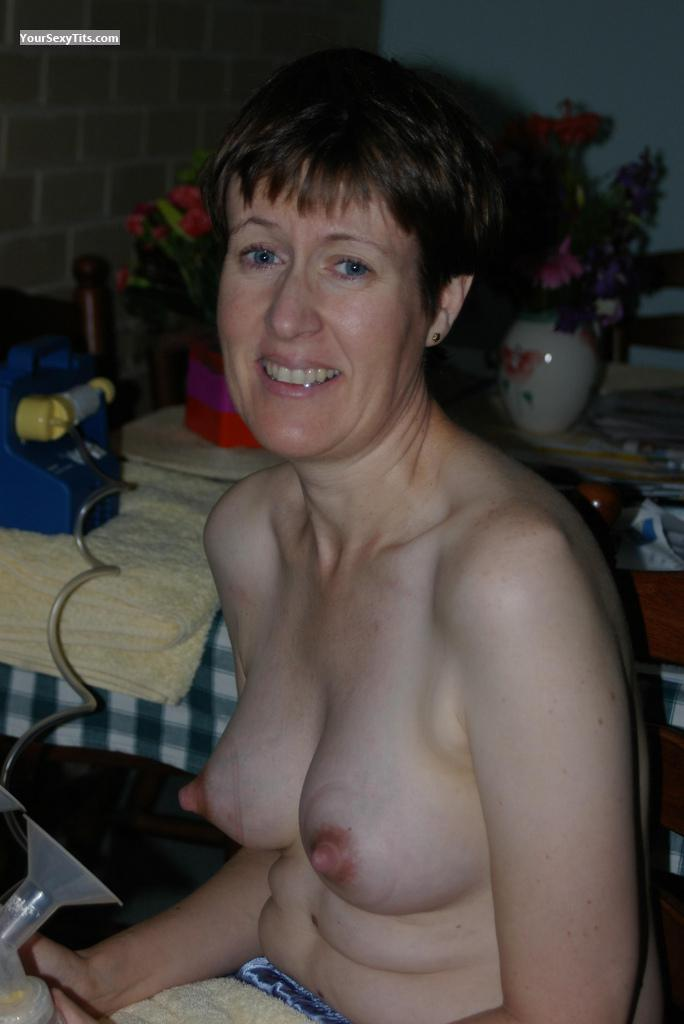 Tit Flash: Wife's Medium Tits - Topless Ashleigh from Australia