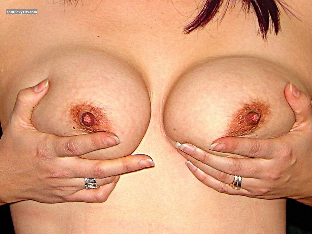 Tit Flash: Medium Tits - Little One from Mexico