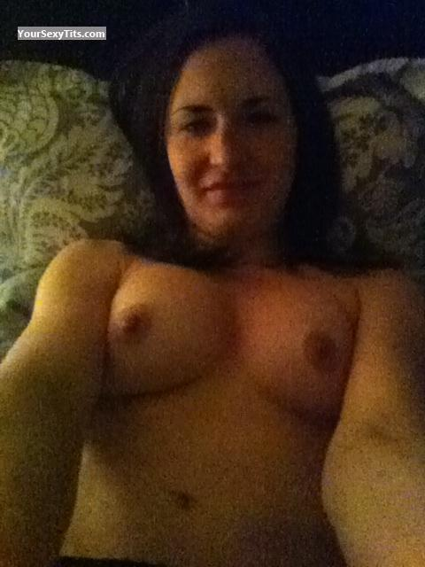 Tit Flash: My Medium Tits (Selfie) - Topless Allison from United States