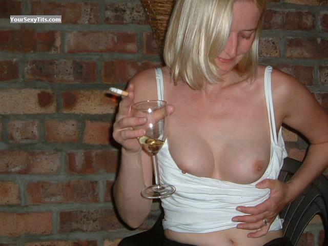 Tit Flash: Medium Tits - Wino from United Kingdom