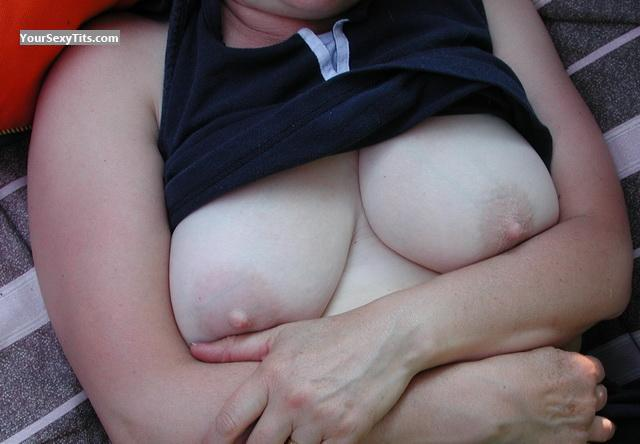 Tit Flash: Medium Tits - OntGal from Canada