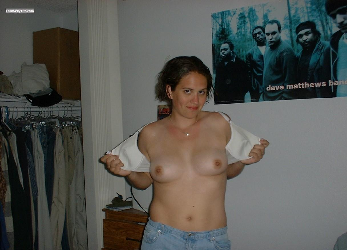 Tit Flash: Medium Tits - Topless Notty from United States
