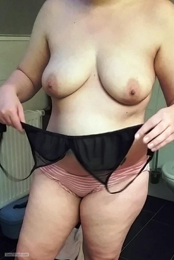 Tit Flash: My Medium Tits - Sabrina21085 from United Kingdom