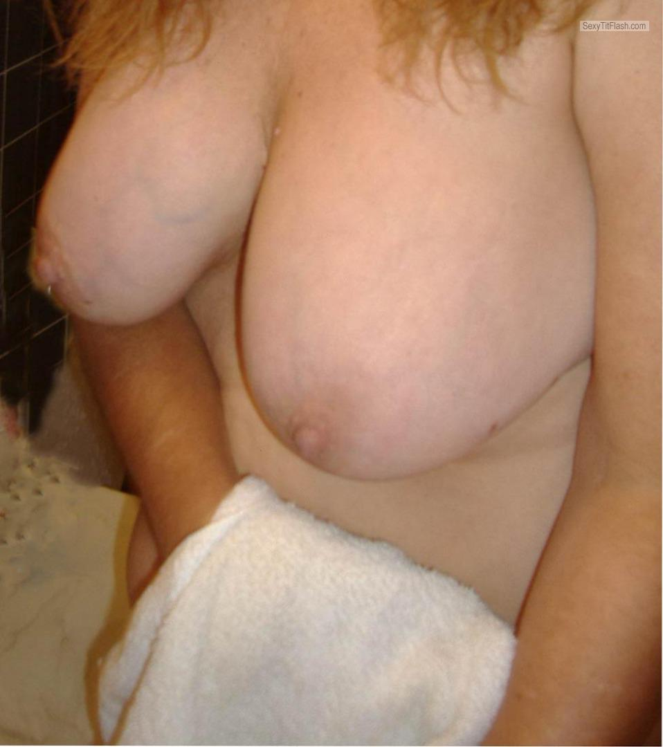 Tit Flash: My Medium Tits - Topless Suckable Again from United States