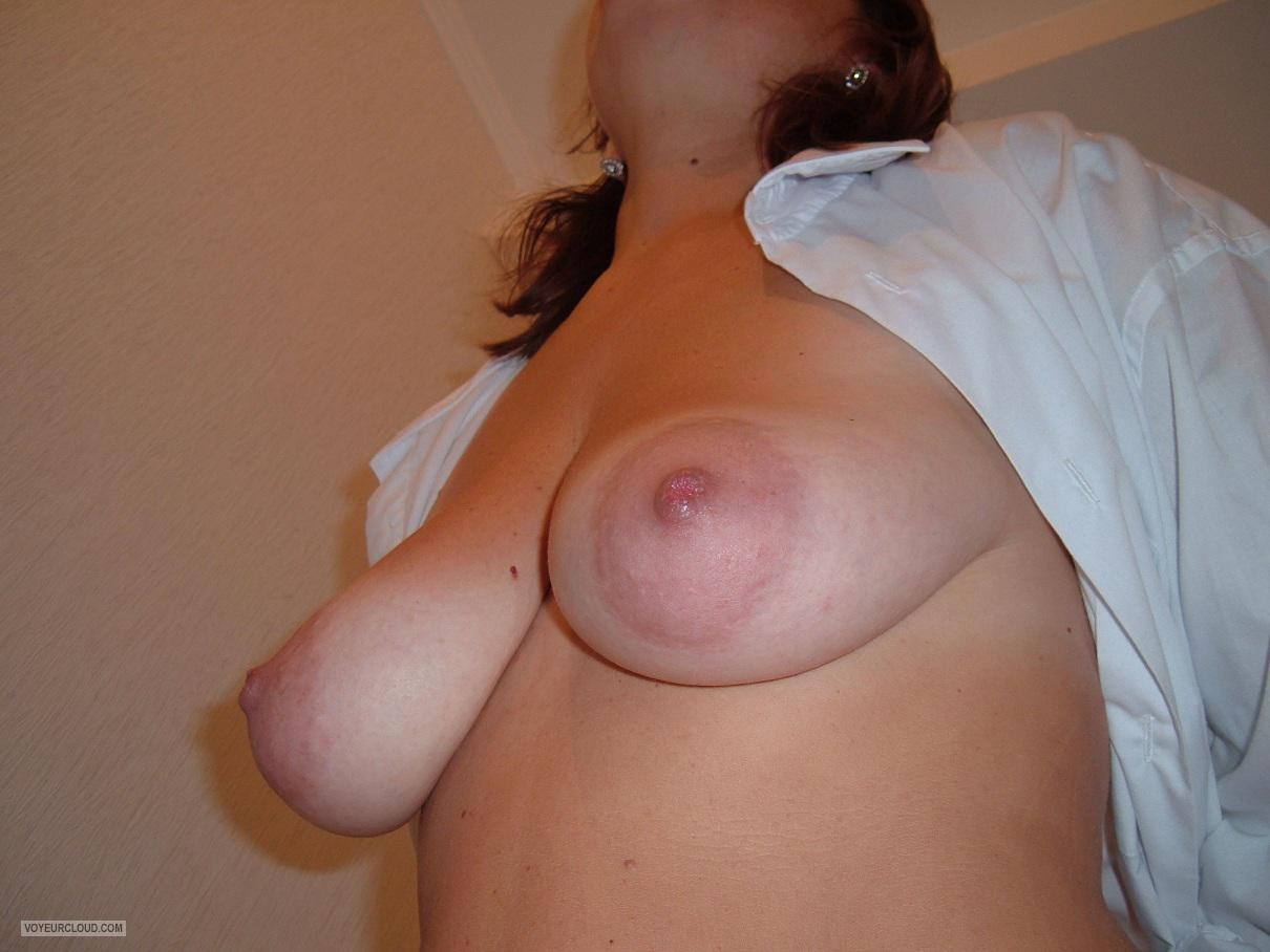 Tit Flash: Wife's Medium Tits - Babcab from United States