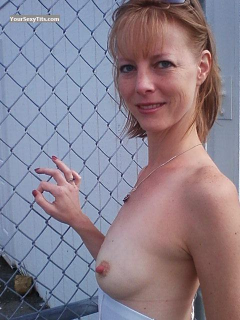 Tit Flash: Medium Tits - Topless Faerie Princess from United States