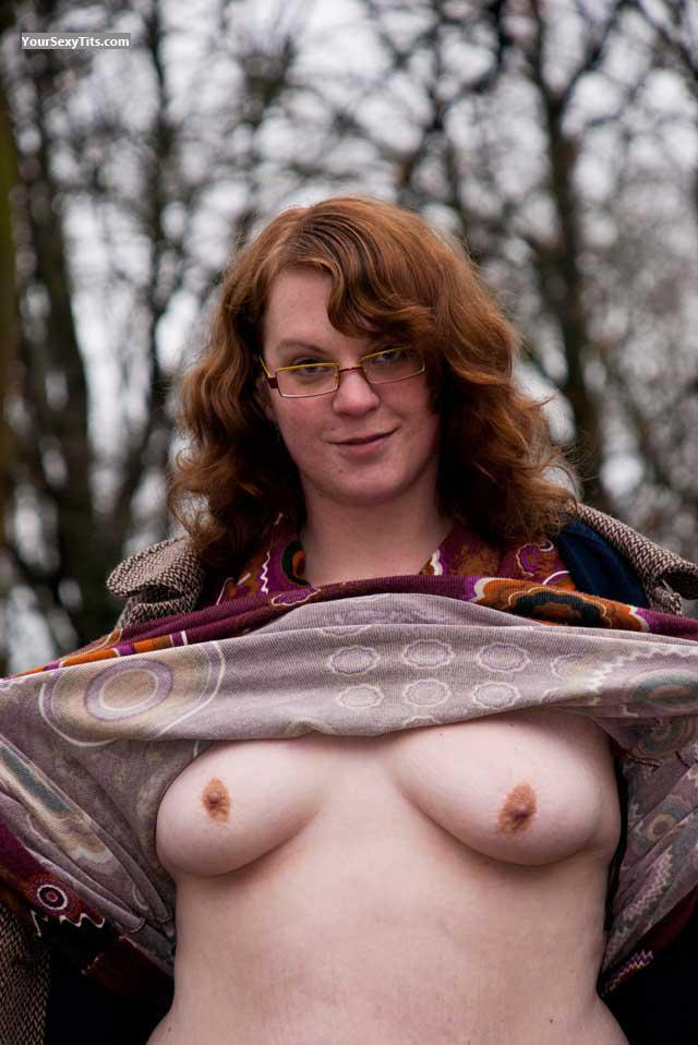 Tit Flash: My Medium Tits - Topless Knetter from Netherlands
