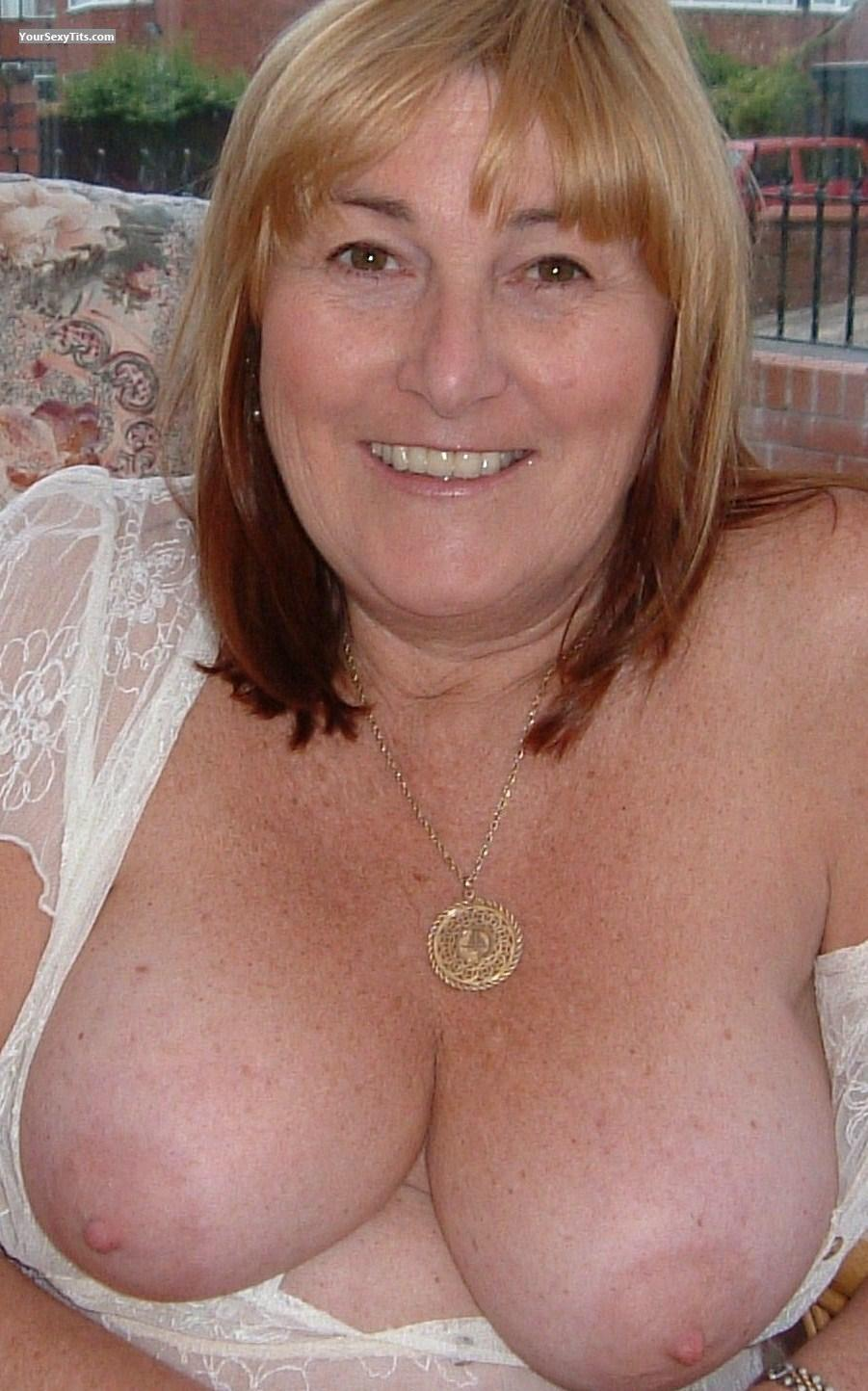 Tit Flash: Medium Tits - Topless M from United Kingdom