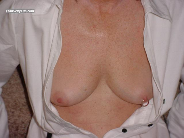 Tit Flash: Medium Tits - Maryann from United StatesPierced Nipples