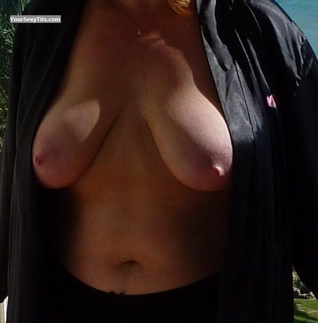 Tit Flash: Wife's Medium Tits - Sexy Jen from United Kingdom