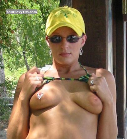 Tit Flash: Medium Tits - Topless Michelle from United States