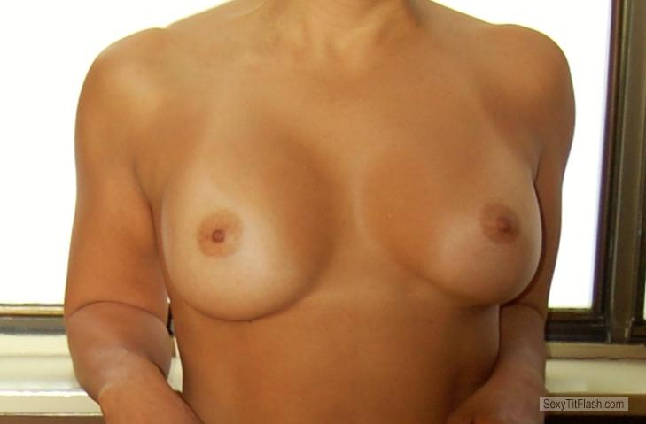Tit Flash: My Small Tits - Latina Mommy from United Kingdom