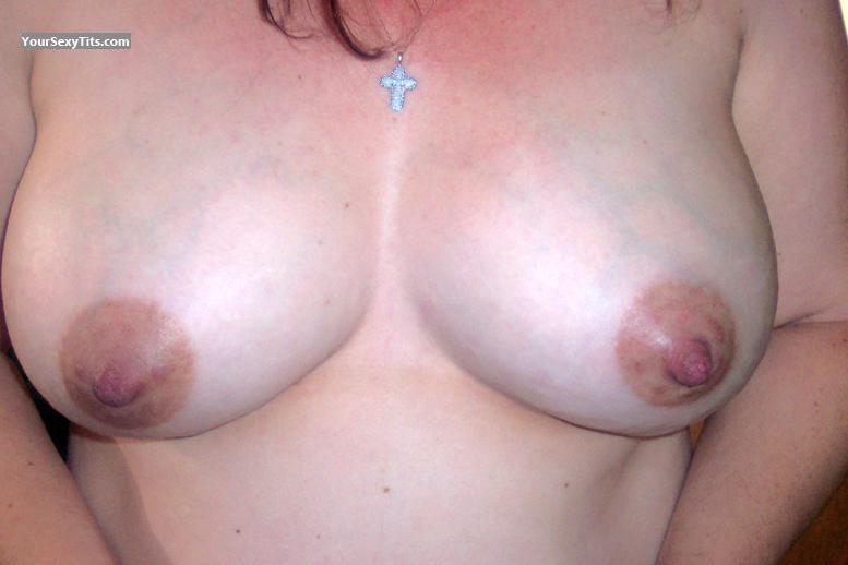 Tit Flash: Wife's Medium Tits - Sue from United Kingdom