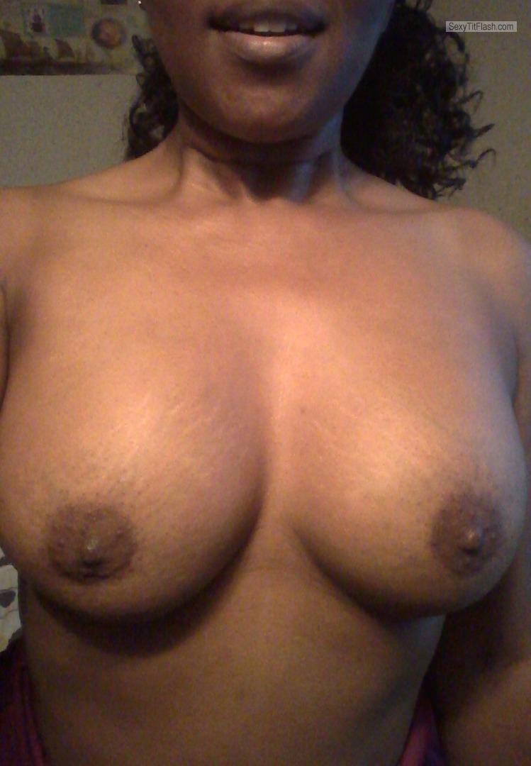 Tit Flash: My Medium Tits (Selfie) - Samantha from United States