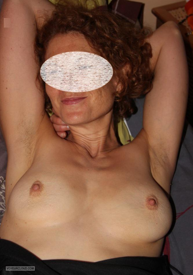 Tit Flash: Wife's Medium Tits - MILF from France