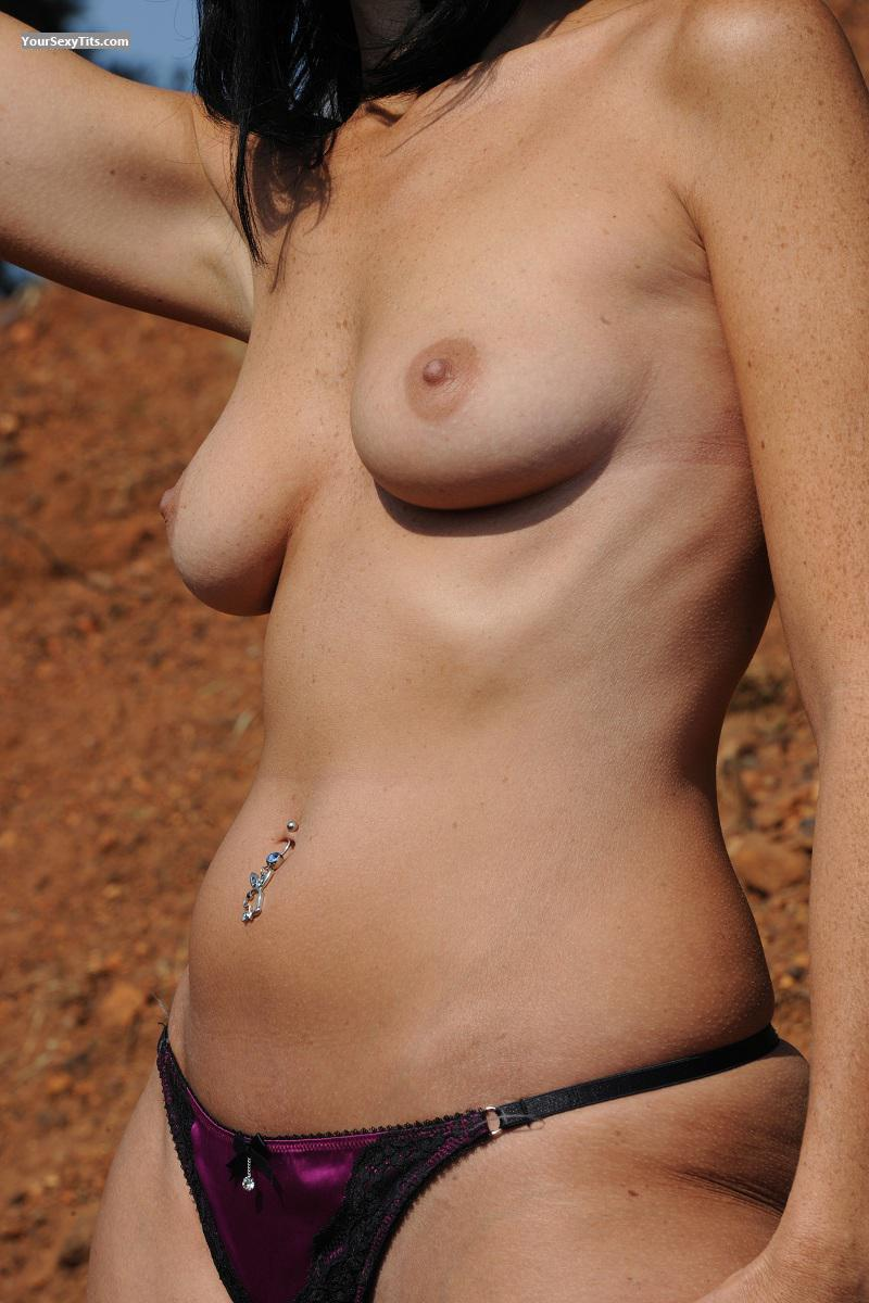 Tit Flash: Wife's Medium Tits - Rentia from South Africa