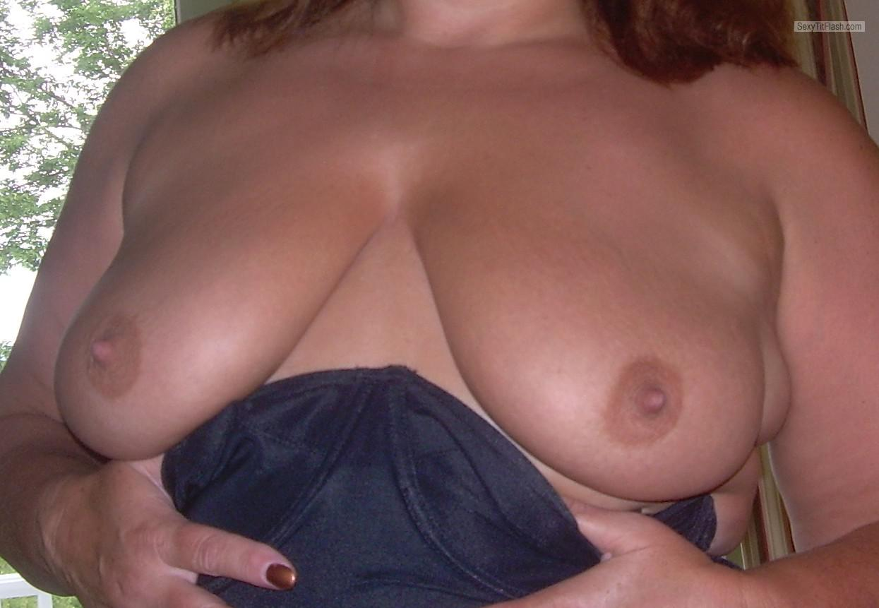 Tit Flash: My Medium Tits - Harley2 from United States