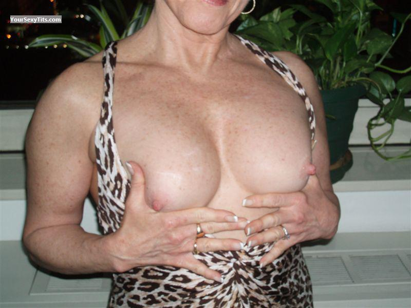 Tit Flash: Wife's Medium Tits - Curious2 from United States