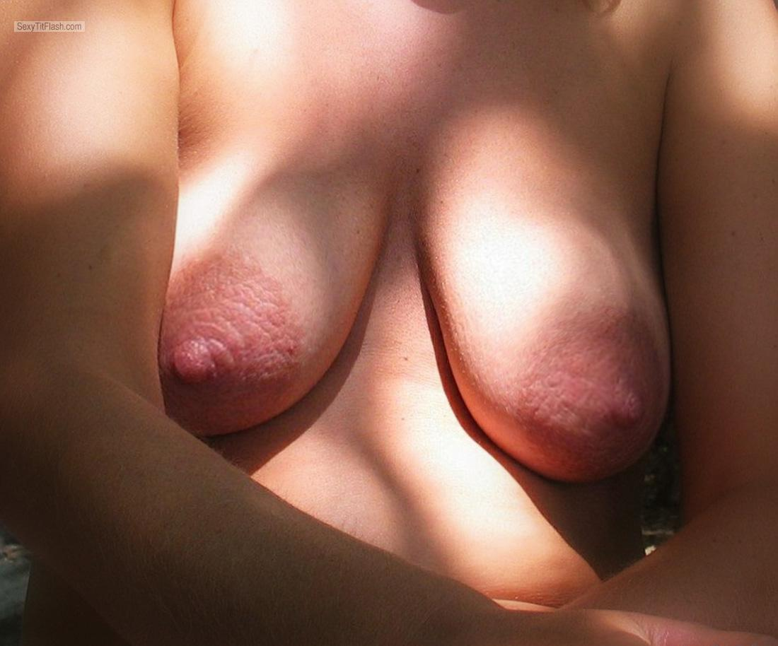 Tit Flash: Wife's Medium Tits - Jana from Slovenia