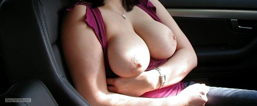 Tit Flash: Room Mate's Medium Tits - Booblove from United States