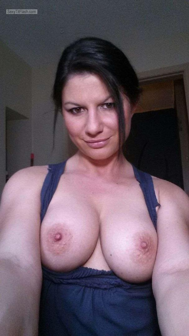 My Medium Tits Topless Selfie by Hungarian Hot Wife